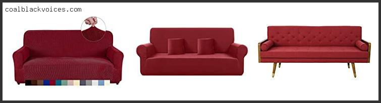 Red 3 Seater Fabric Sofa