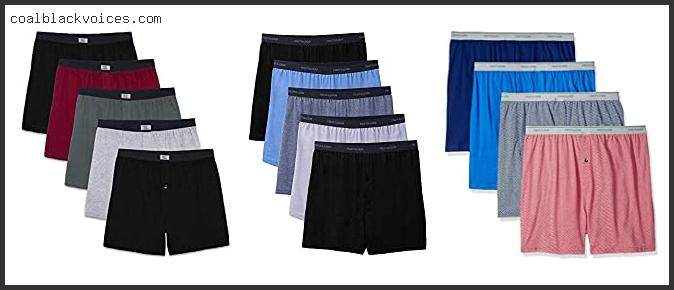 Fruit Of The Loom Men's Assorted Knit Boxers 5 Pack