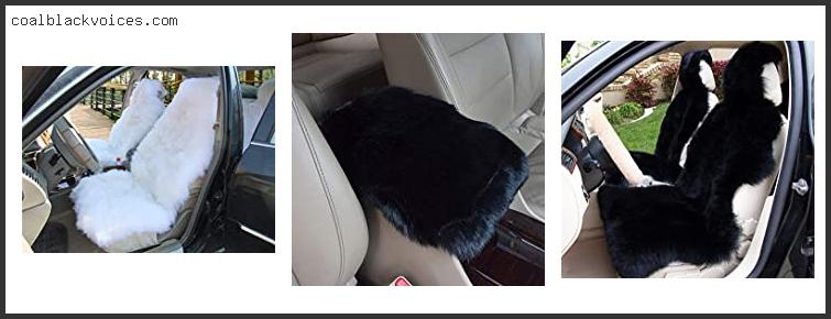 Black Fluffy Car Seat Covers